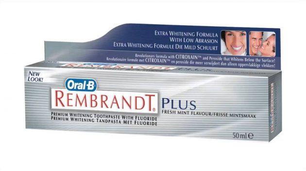 Отбеливающая зубная паста rembrandt