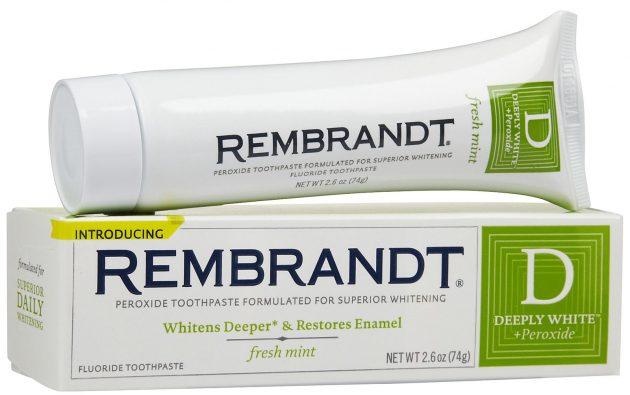 Rembrandt - один из лидеров рейтинга лучших отбеливающих паст