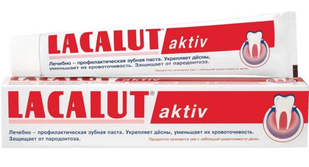 В рейтинге лучших зубных паст достойное место занимает Lacalut