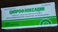ципрофлоксацин - антибиотик при зубной боли